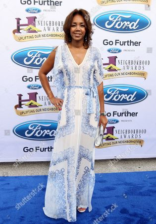 Stock Photo of Shawn Thompson of Ford walked the Ford blue carpet at the 2014 Neighborhood Awards held at the Philips Arena, in Atlanta, Ga