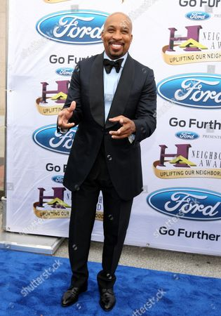 Nephew Tommy, co-host of the Steve Harvey Morning Show, walked the Ford blue carpet at the 2014 Neighborhood Awards held at the Philips Arena, in Atlanta, Ga