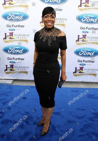 Stock Photo of Actress Shirley Strawberry walked the Ford blue carpet at the 2014 Neighborhood Awards held at the Philips Arena, in Atlanta, Ga