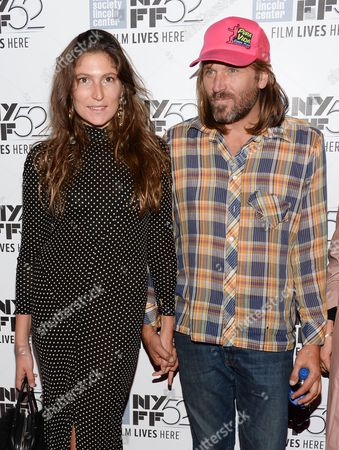 "Actress Stella Schnabel and musician Evan Dando attend the ""Heaven Know What"" screening during the 52nd Annual New York Film Festival at Alice Tully Hall, in New York"