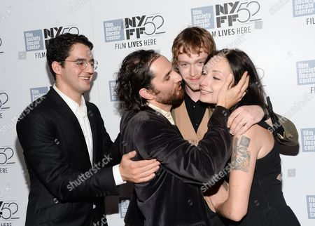 "Co-director Ben Safdie, co-director Joshua Safdie, actor Caleb Landry Jones and actress Arielle Holmes attend the ""Heaven Know What"" screening during the 52nd Annual New York Film Festival at Alice Tully Hall, in New York"