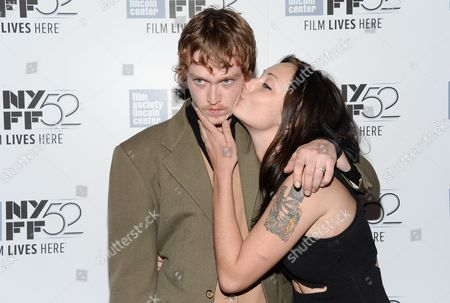 "Actor Caleb Landry Jones and Arielle Holmes attend the ""Heaven Know What"" screening during the 52nd Annual New York Film Festival at Alice Tully Hall, in New York"