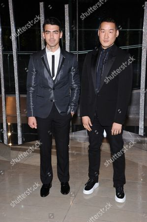Joe Jonas, right, and Richard Chai attend the 2015 CFDA Fashion Awards at Alice Tully Hall, in New York