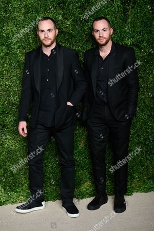 Shimon Ovadia and Ariel Ovadia attend the 12th Annual CFDA/Vogue Fashion Fund Awards at Spring Studios, in New York