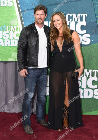 Stock Photo of Noah Galloway, left, and Jamie Boyd arrive at the CMT Music Awards at Bridgestone Arena, in Nashville, Tenn