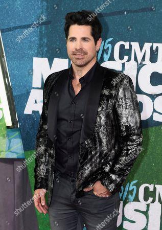 JT Hodges arrives at the CMT Music Awards at Bridgestone Arena, in Nashville, Tenn
