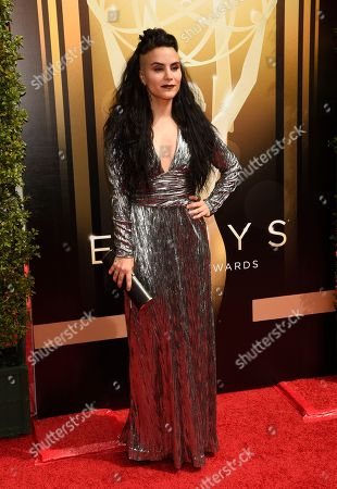 Sonya Tayeh arrives at the Creative Arts Emmy Awards at the Microsoft Theater, in Los Angeles