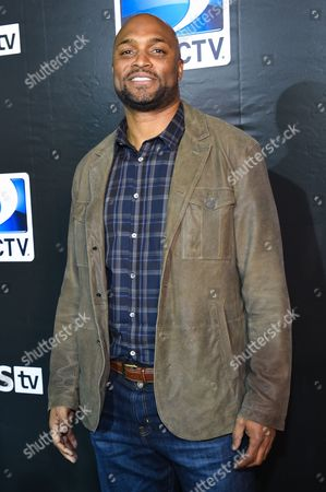 Amani Toomer arrives at the 2015 DIRECTV Super Saturday Night at the Pendergast Family Farm on in Glendale, Ariz