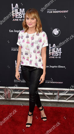 """Sunny Mabrey poses at the premiere of the film """"Grandma"""" on the opening night of the Los Angeles Film Festival, in Los Angeles"""