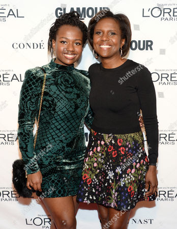 Deborah Roberts, right, and daughter Leila Roker attend the 25th Annual Glamour Women of the Year Awards at Carnegie Hall, in New York