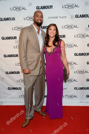 Hope Solo and husband Jerramy Stevens attend the 25th Annual Glamour Women of the Year Awards at Carnegie Hall, in New York