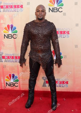 Lord KraVen arrives at the iHeartRadio Music Awards at The Shrine Auditorium, in Los Angeles