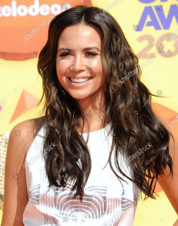 Mandy Capristo arrives at Nickelodeon's 28th annual Kids' Choice Awards at The Forum, in Inglewood, Calif