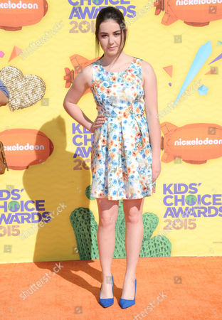 Sarah Gilman arrives at Nickelodeon's 28th annual Kids' Choice Awards at The Forum, in Inglewood, Calif