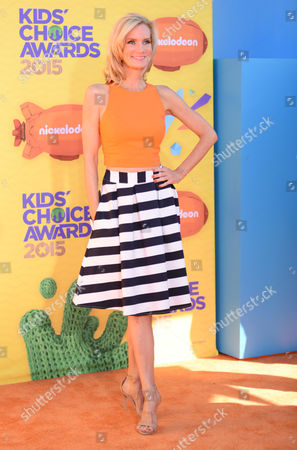Beth Littleford arrives at Nickelodeon's 28th annual Kids' Choice Awards at The Forum, in Inglewood, Calif