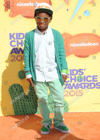 Stock Photo of Damarr Calhoun arrives at Nickelodeon's 28th annual Kids' Choice Awards at The Forum, in Inglewood, Calif
