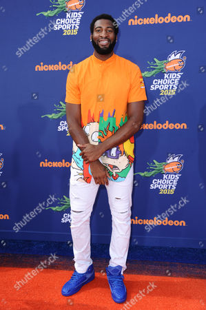 Andre Drummond arrives at the 2015 Kids' Choice Sports Awards at Pauley Pavilion on in Los Angeles