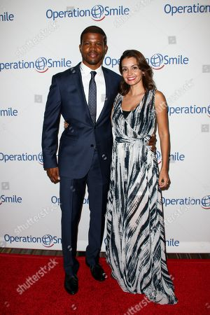 Stock Photo of Sharif Atkins, left, and Bethany Atkins attend the 2015 Operation Smile Gala held at The Beverly Wilshire, in Beverly Hills, Calif