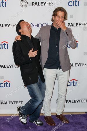 Ken Jeong, left, and Mike Sikowitz attend the at 2015 PaleyFest Fall TV Previews at The Paley Center for Media, in Beverly Hills, Calif