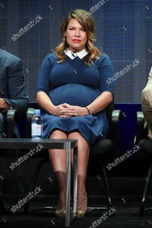 """Kiele Sanchez participates in the """"Kingdom"""" panel at the Direct TV Summer TCA Tour at the Beverly Hilton Hotel, in Beverly Hills, Calif"""