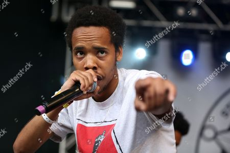 Earl Sweatshirt performs at the Spin Magazine Day Party at Stubb's during South By Southwest, in Austin, TX