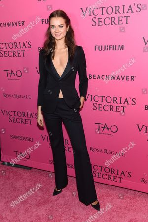 Model Monika Jagaciak attends the 2015 Victoria's Secret Fashion Show After Party at Tao, in New York. The Victoria's Secret Fashion Show will air on CBS on Tuesday, December 8th at 10pm EST