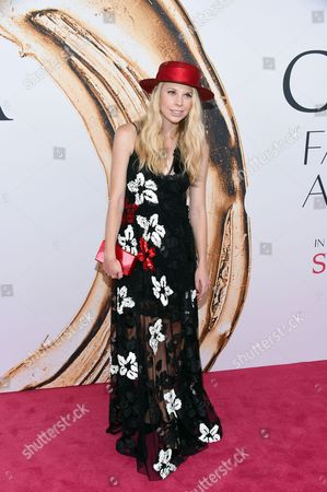 Gigi Burris arrives at the CFDA Fashion Awards at the Hammerstein Ballroom, in New York