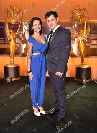 Laneya Arvizu, left, and Christopher Sean attend the 2016 Daytime Peer Group Celebration presented by the Television Academy at their Saban Media Center, in North Hollywood, Calif