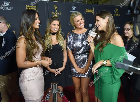 Stock Photo of Manuela Arbelaez, from left,t Amber Lancaster, and Rachel Reynolds attend the 2016 Daytime Peer Group Celebration presented by the Television Academy at their Saban Media Center, in North Hollywood, Calif