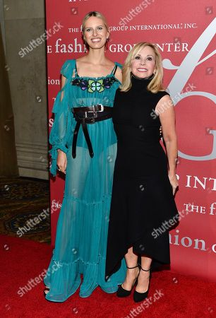 Karolina Kurkova, left, and Julie Wainwright attend The Fashion Group International's Night of Stars Gala at Cipriani Wall Street, in New York