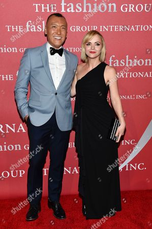 Media award honoree Joe Zee, left, and actress Christina Ricci attend The Fashion Group International's Night of Stars Gala at Cipriani Wall Street, in New York