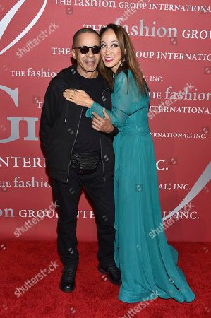Stephen Burrows, left, and Pat Cleveland attend The Fashion Group International's Night of Stars Gala at Cipriani Wall Street, in New York