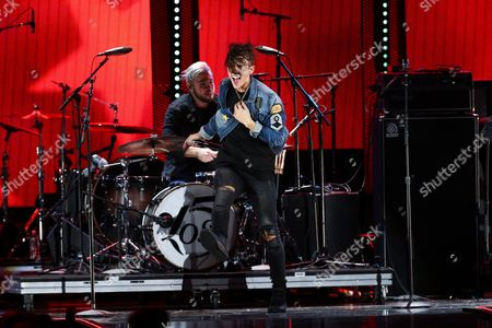 Ismael Cano, Jr. of the music group LOS 5 performs at the 2016 iHeartRadio Music Festival - Day 1 held at T-Mobile Arena, in Las Vegas