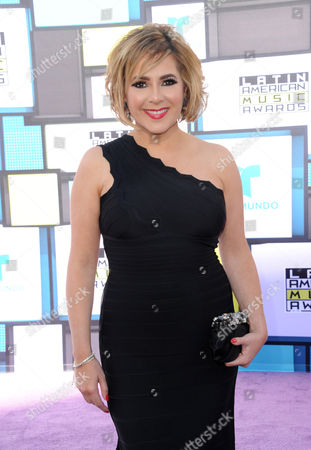Stock Image of Ana Maria Canseco arrives at the Latin American Music Awards at the Dolby Theatre, in Los Angeles