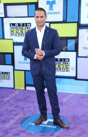 Michel Brown arrives at the Latin American Music Awards at the Dolby Theatre, in Los Angeles