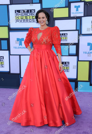 Stock Photo of Shaila Durcal arrives at the Latin American Music Awards at the Dolby Theatre, in Los Angeles