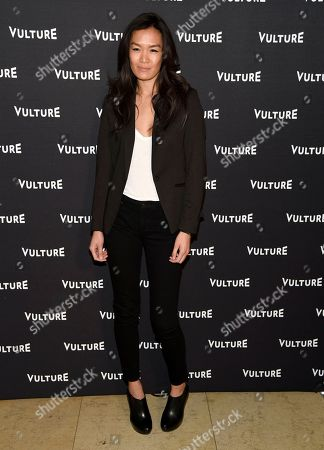 Stock Picture of Sydney Viengluang arrives at the New York Magazine and Vulture inaugural awards season party at the Sunset Tower Hotel, in Los Angeles