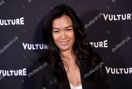 Stock Image of Sydney Viengluang arrives at the New York Magazine and Vulture inaugural awards season party at the Sunset Tower Hotel, in Los Angeles