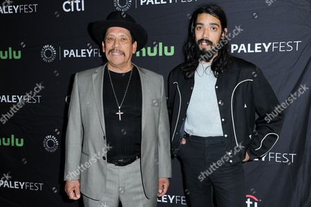 """Danny Trejo, left, and Gilbert Trejo attend the """"From Dusk till Dawn: The Series"""" screening and panel discussion at the 2016 PaleyFest Fall TV Previews, in Beverly Hills, Calif"""