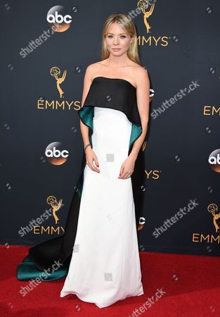 Kaitlin Doubleday arrives at the 68th Primetime Emmy Awards, at the Microsoft Theater in Los Angeles