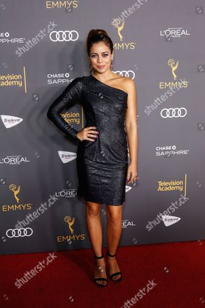 Angelique Rivera arrives at the 2016 Primetime Emmy Awards Performer Nominees Reception at the Pacific Design Center, in West Hollywood, Calif