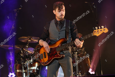 Tom Blankenship with My Morning Jacket performs during the 2016 Shaky Knees Festival at Centennial Olympic Park, in Atlanta