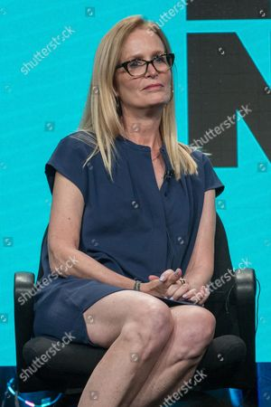 "Stock Picture of Executive Producer Christine Zander participates in the ""Loosely, Exactly Nicole"" panel during the Viacom Networks Television Critics Association summer press tour, in Beverly Hills, Calif"