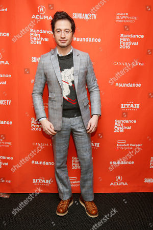 """Documentary subject and custom suit maker Daniel Friedman poses at the premiere of """"Suited"""" during the 2016 Sundance Film Festival, in Park City, Utah"""