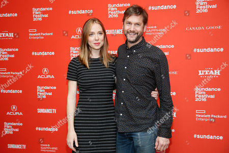 """Director and writer Sian Heder and husband and executive producer David Newsom pose at the premiere of """"Tallulah"""" during the 2016 Sundance Film Festival, in Park City, Utah"""