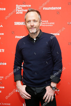 "Actor John Benjamin Hickey poses at the premiere of ""Tallulah"" during the 2016 Sundance Film Festival, in Park City, Utah"