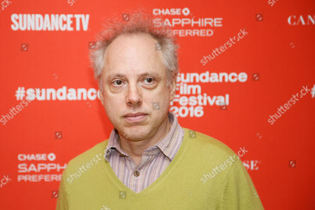 "Writer and director Todd Solondz poses at the premiere of ""Wiener-Dog"" during the 2016 Sundance Film Festival, in Park City, Utah"