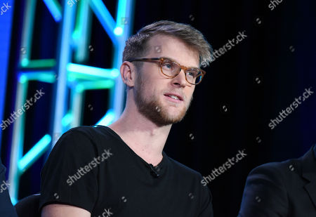 """Jonnie Pen speaks during the """"Greatest Party Story Ever...And Other Epic Tales"""" panel at the MTV 2016 Winter TCA, in Pasadena, Calif"""