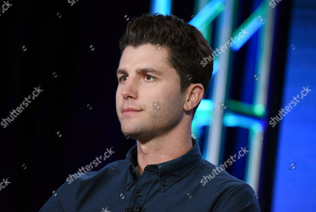 "Ben Nemtin appears during the ""Greatest Party Story Ever...And Other Epic Tales"" panel at the MTV 2016 Winter TCA, in Pasadena, Calif"