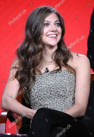 "Mia Serafino participates in the ""Crowded"" panel at the NBCUniversal Winter TCA, Pasadena, Calif"